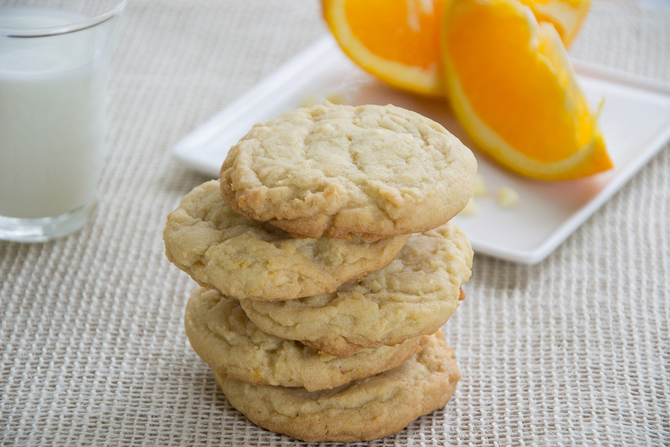 Orange and White Chocolate Cookies - Chateau Elma