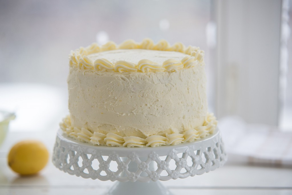 Triple-Lemon Layer Cake Recipe — Dishmaps