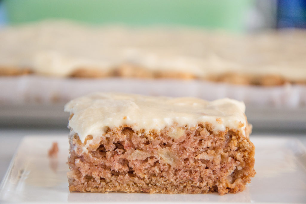 Maple-Frosted-Apple-Slab-Cake