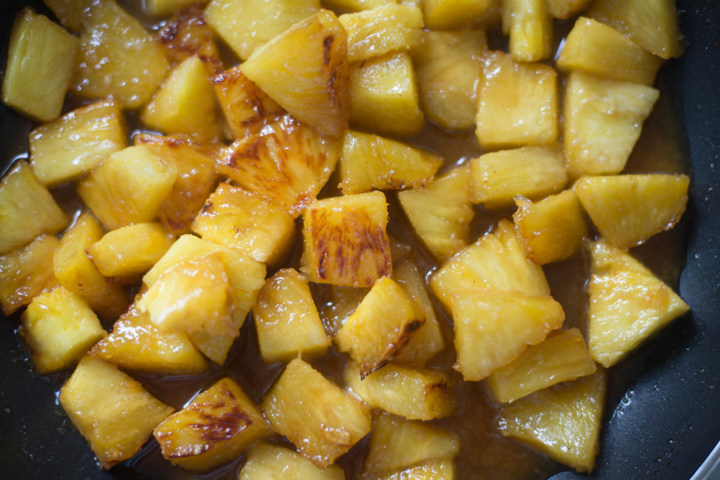pineapple-in-caramel-sauce