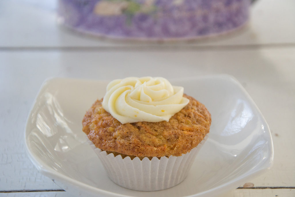 Carrot Cupcakes with Orange Cream Cheese Frosting ...